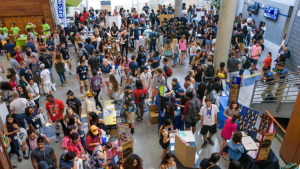 Students gather during SOAR at the Kaplan Center