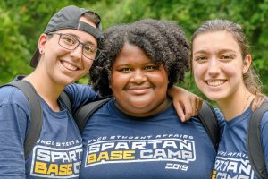 BASE Camp Leaders pose for a picture together at Piney Lake