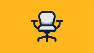 Graphic design of an office chair